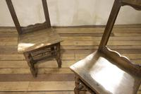 Set of Four French 18th Century Backstool Chairs (12 of 13)