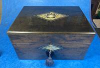 Victorian Ebonised Jewellery Box with Mother of Pearl & Abalone Inlay (12 of 18)