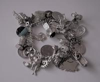 A Vintage 1963 Heavy Silver Charm Bracelet With 38 Silver Charms - Ideal Birthday Present  / Boxed (3 of 10)