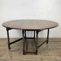 Antique 19th Century Oak Gateleg Dining Table (10 of 10)