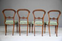 Set of 4 Antique Victorian Walnut Dining Chairs (7 of 12)