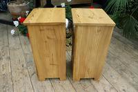 Fantastic & Large Pair of Old Stripped Pine Bedside Cabinets - We Deliver! (7 of 9)