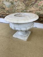 French Solid White Marble Urn (4 of 4)