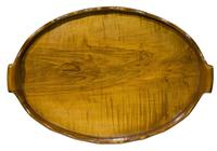 Antique Walnut Brass Bound Oval Tray (2 of 6)