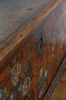 19th century painted pine coffer with floral artwork to the front (8 of 19)