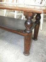 Long 2 Tier Solid Oak Coffee Table (3 of 3)