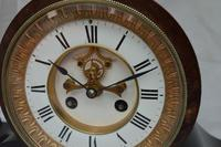 French Slate Mantel Clock Visible Escapement (2 of 5)