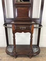 Antique Edwardian Mahogany Mirror Hall Stand (4 of 9)