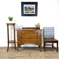 Early 20th Century Oak Chest of Drawers (2 of 9)