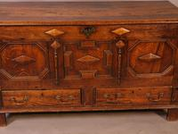 Early 18th Century Dower Chest in Oak (2 of 9)