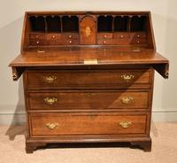 George III Oak Bureau with Fitted Interior (2 of 8)