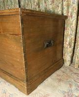 Victorian Stripped Pine Blanket Box with Lots of Storage (3 of 8)