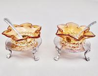 Delightful Pair of Victorian Silver Plated Stands with Glass Salts by John Grinsell & Sons c.1890 (6 of 10)