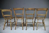 4 Rustic Elm Country Kitchen Chairs (6 of 14)