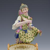 Fine Pair Minton Porcelain Sweetmeat Figures with Baskets Models 84 & 85 c.1830 (13 of 23)
