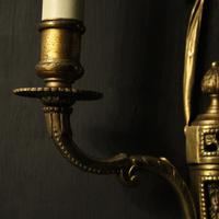 French Set of 4 Gilded Twin Arm Wall Lights (7 of 10)