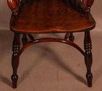 Good Yew Wood High Back Windsor Chair Rockley Maker (11 of 11)