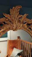 Antique Oval Timber Gilt Wall Mirror (4 of 6)