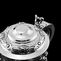 Antique Solid Sterling Silver Large Tankard with Royal Marines Officer Interest - Goldsmiths & Silversmiths Co 1900 (24 of 28)