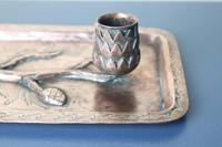 Arts & Crafts / Art Nouveau, Jugendstil Copper Pine Cone & Branch Candle holder c.1910 (28 of 28)