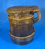 19th Century Beech & Pine Treen Tankard (11 of 11)