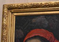 Oil Painting of a Lady with a Red Headscarf (6 of 8)