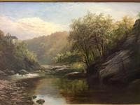 George Henry Jenkins 'A Devon River Landscape' Oil on Canvas Painting (4 of 12)