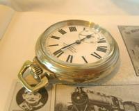 Antique Pocket Watch 1920s Winegartens 7 Jewel Railway Regulator Silver Nickel Case FWO (5 of 12)