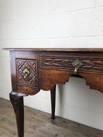 Antique 19th Century Carved Oak Lowboy Side Table (11 of 17)