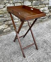 Small Antique Mahogany Butlers Tray on Stand (9 of 15)