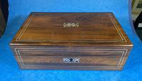 William IV Rosewood & Mother of Pearl Writing Slope (2 of 14)