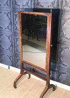 Regency Mahogany Framed Cheval Mirror (3 of 11)