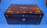 William IV Rosewood Jewellery Box With Mother Of Pearl Inlay (14 of 17)