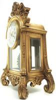 Wow! Incredible French Gilt Mantel Clock Visible Pendulum Glass Panels 8 Day Mantle Clock (7 of 9)