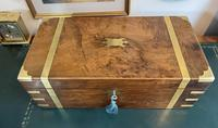 Victorian Brass-bound Walnut Writing Slope with Secret Drawers (10 of 39)