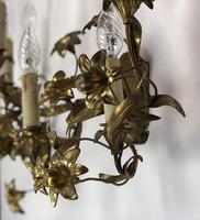 French Gilt Toleware Lilly Wall Lights Sconces (12 of 12)