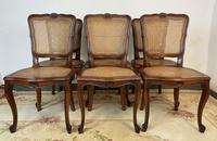 Vintage French Louis Style Set Of 6 Cherry Wood Bergère Cane Dining Chairs (4 of 10)