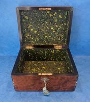 Victorian Burr Cedar Jewellery Box (6 of 11)