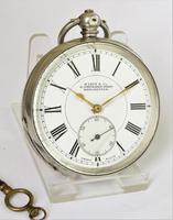 Antique Silver Buren Pocket Watch, 1907 (2 of 5)