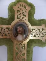 19th Century French Wall Stoup Cross (5 of 7)