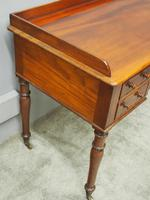 William IV Mahogany Side Table / Desk (7 of 8)