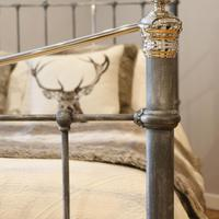 Charcoal Victorian Bed with Nickel Plating (5 of 11)