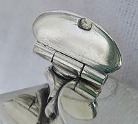 Antique Georgian 1829 Solid Sterling Silver & Glass Travelling Inkwell Ink Pot - 19th Century (7 of 10)