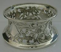 Rare English Solid Sterling Silver Potato Dish Ring London 1917 Antique (4 of 12)