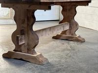 French Bleached Refectory Farmhouse Dining Table (17 of 21)