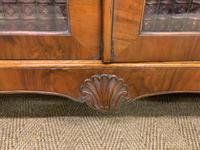 Burr Walnut Glazed Bookcase (9 of 14)