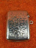 Antique Sterling Silver Hallmarked Vesta Case 1910, Samuel M Levi (2 of 9)