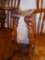 Matched Pair of Yew Windsor Chairs (6 of 13)