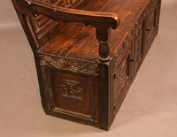 Antique Oak Settle (11 of 11)