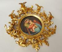 Outstanding 19th Century Florentine Porcelain Plaque Madonna (3 of 8)